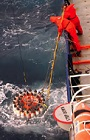 Collecting hydrographic data at sea